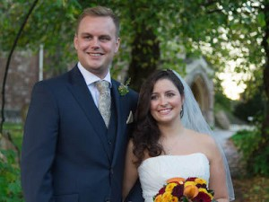 A photo of Jonathan and Justine, married at St Mary's in 2013