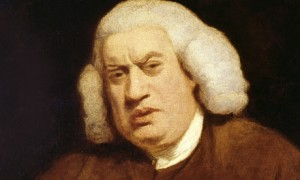 A painting of Dr Samuel Johnson