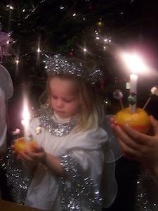 Small girl, St Mary's, Christingle 2011