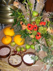 A photo of produce from Harvest Festival 2012 at St Mary's, West Malling