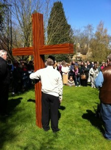 A photo from the Good Friday Walk of Witness in 2012