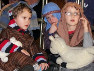 A photo of the Nativity play from St Mary's, 2012