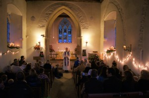 A photo of the Christingle Service from St Michael's, 2012