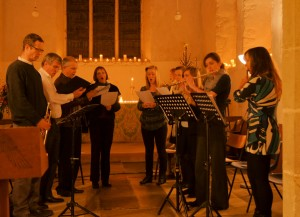 A photo of the choir from the Carol Service at Offham, 2012