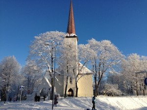A photo of the outside of St Michael's Church, Jõhvi, Estonia
