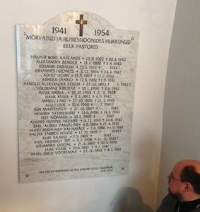 A photo of the Memorial to fallen Clergy, Estonia