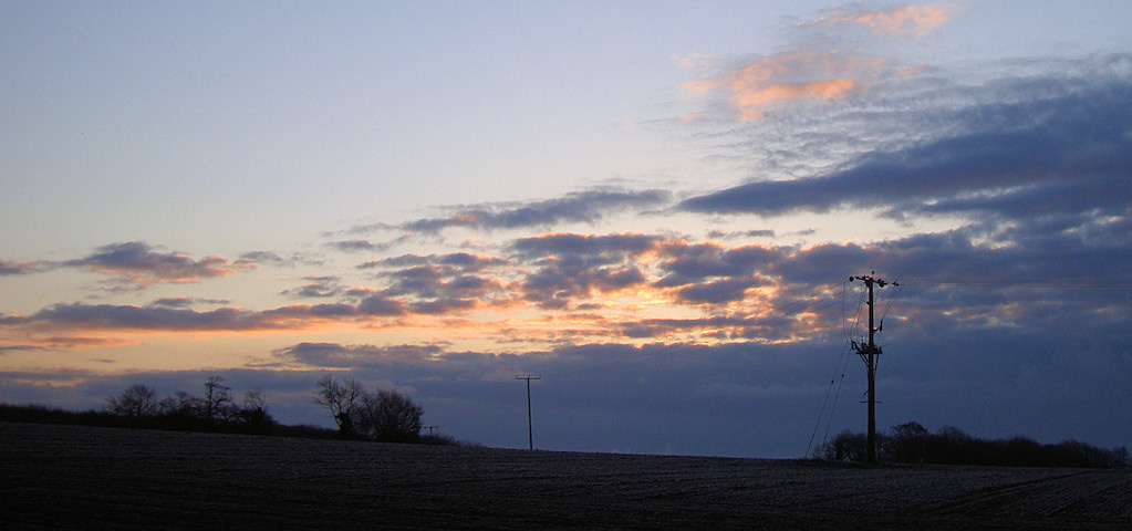 A photo of the sunrise at Offham on Easter Sunday 2013