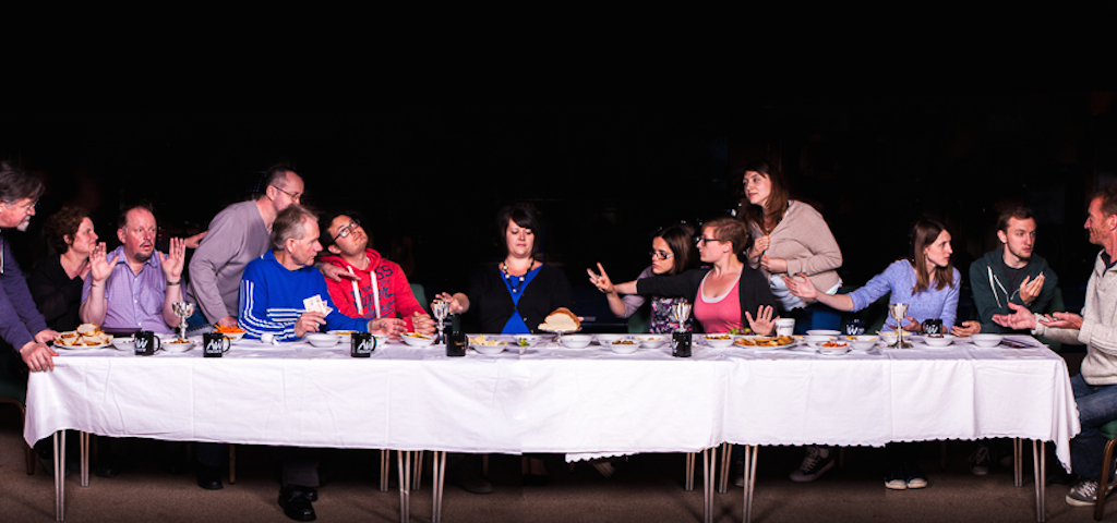 Modern interpretation of the Lord's Supper. Photo by Chris Wicks, all rights reserved.