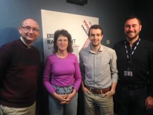 David and the BBC Radio Kent Sunday Panel with host Phil Harrison