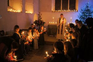 Christingle service at Offham