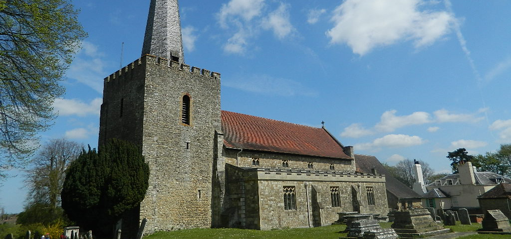 A photo of St Mary's Church, West Malling
