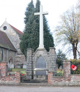 West Malling War Memorial. Photo by Heidi Easby.