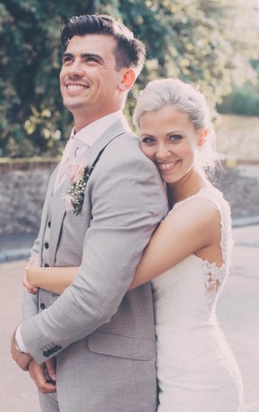 A photo of James and Jessica, who married at St Mary's in 2017