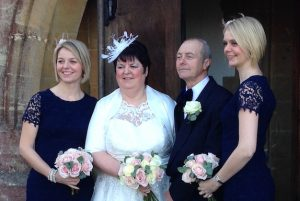 A photo of Terence and Glynis, who renewed their vows at St Mary's in 2015